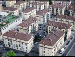 Veduta aerea del 12° Quartiere IACP.  Fotografia di Michele D'Ottavio, 2011. © MuseoTorino