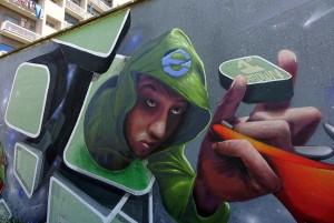 Ride e di Weed, murales senza titolo, s.d. giardini Firpo, corso Dante. Fotografia di Roberto Cortese, 2017 © Archivio Storico della Città di Torino
