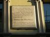 Lapide dedicata alla messa in musica dell'Inno di Mameli. Fotografia di Elena Francisetti, 2010. © MuseoTorino