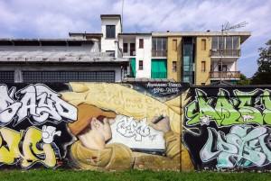Artisti vari, We Love Enak, 2008, giardino Grandi. Fotografia di Roberto Cortese, 2017 © Archivio Storico della Città di Torino