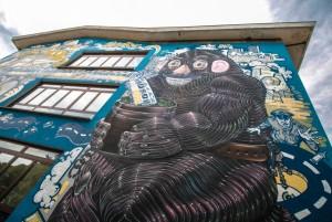 Grito, Sague, Spok, murale senza titolo, 2010, scuola M.L. King, corso Francia