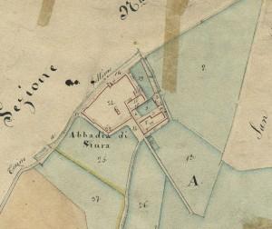 Abbadia di Stura. Catasto Gatti, 1820-1830. © Archivio Storico della Città di Torino