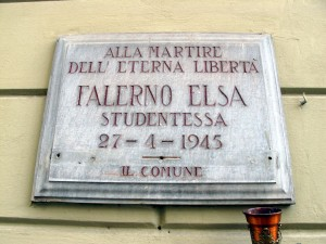 Lapide dedicata a Elsa Pasqualina Falerno