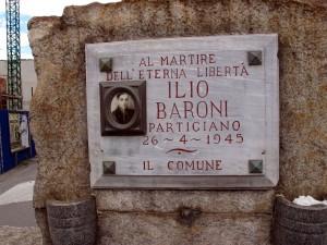 Lapide dedicata a Baroni Ilio (1902 - 1945)