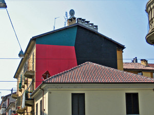 Bruno Sacchetto, opera murale, via Cibrario-via Rivara. Fotografia di Alessandro Vivanti, 2011
