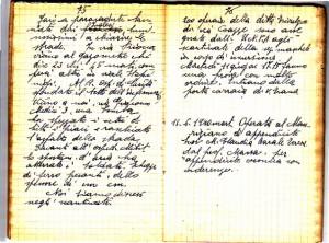 Diario dell'Istituto Lorenzo Prinotti, 1940. ASCT, Fondo Prinotti cart. 31 fasc. 11, 9, pp. 75-76. © Archivio Storico della Città di Torino