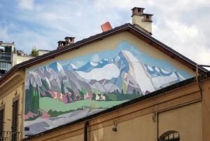 Pasquale Filannino, murale senza titolo, via Fiano 13, MAU Museo Arte Urbana. Fotografia di Roberto Cortese, 2017 © Archivio Storico della Città di Torino