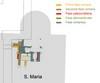Pianta schematica delle fasi costruttive emerse nei sondaggi di scavo in S. Maria. © Soprintendenza per i Beni Archeologici del Piemonte e del Museo Antichità Egizie.