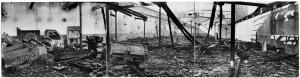 Corso Mortara (?), Stabilimento FIAT - Sezione Ferriere Piemontesi. Effetti prodotti dai bombardamenti dell'incursione aerea dell' 8-9 dicembre 1942. UPA 2851D_9F02_52. © Archivio Storico della Città di Torino