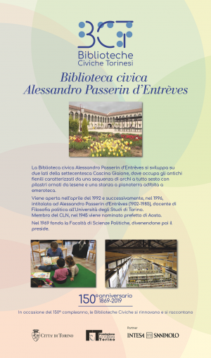 1869-2019. Biblioteca civica Alessandro Passerin d'Entrèves