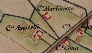 Cascina Martiniana. Cascina Martiniana. Carta delle Regie Cacce, 1816. © Archivio di Stato di Torino
