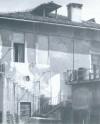 Foto storica della meridiana presente su uno dei muri interni della cascina Bellacomba. © EUT 6.
