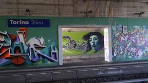MKE, Murales nella Stazione Ferroviaria Stura, 2015