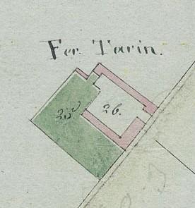 Cascina Il Tarino. Mappa primitiva Napoleonica, 1805. © Archivio Storico della Città di Torino