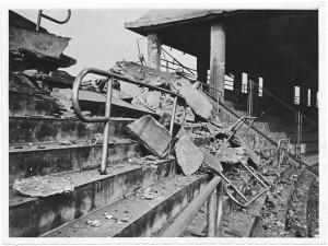 Stadio Comunale (già Mussolini), Via Filadelfia, Corso Sebastopoli, Corso Quattro Novembre.  Effetti prodottidai bombardamenti dell'incursione aerea del 17 agosto 1943. UPA 4009D_9E03-47. © Archivio Storico della Città di Torino