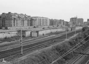 Area vuota, dopo l'abbattimento dei Docks di corso Dante. Fotografia di Paolo Arlandi, 1993