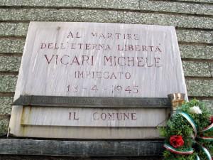 Lapide dedicata a Michele Vicari (1902 - 1945)