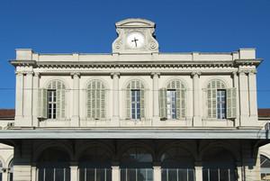 Carlo Promis, Stazione di Porta Susa (particolare facciata), 1856. Fotografia di Fabrizia Di Rovasenda, 2010. © MuseoTorino