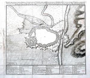 Pianta topografica della città, con le nuove opere di fortificazione del 1706 (1729)