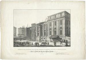 Palazzo dei Supremi Magistrati, litografia. © Archivio Storico della Città di Torino