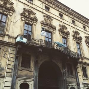 Palazzo Provana di Collegno, facciata. Fotografia del 2015