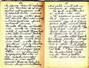 Diario dell'Istituto Lorenzo Prinotti, 1942. ASCT, Fondo Prinotti cart. 31 fasc. 11, 10, pp. 20-21. © Archivio Storico della Città di Torino