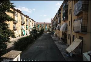 Veduta di un cortile interno, Quartiere M1. Fotografia di Michele D'Ottavio, 2011. © MuseoTorino