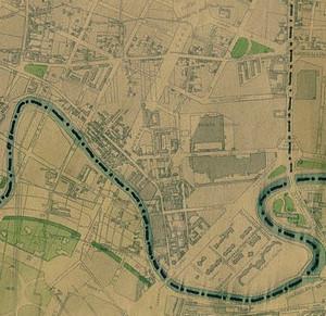 Planimetria di borgata Ceronda nel 1945, particolare. © Archivio Storico della Città di Torino