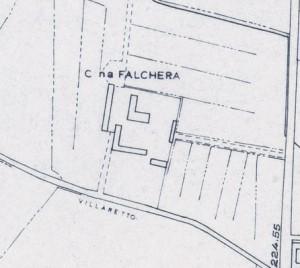 Cascina Falchera. Istituto Geografico Militare, Pianta di Torino, 1974. © Archivio Storico della Città di Torino