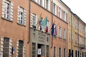 Palazzo in via Ormea, 45. Sede della Circoscrizione 8, già sede dei Vigili Urbani. Fotografia di Mauro Raffini, 2010. © MuseoTorino.