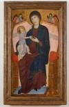 Duccio di Buoninsegna, Madonna con il Bambino in trono e angeli, 1280 – 1285 circa, tempera su tavola. Torino, Musei Reali - Galleria Sabauda