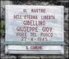 Lapide dedicata a Giuseppe Gibellino (1911 - 1945)