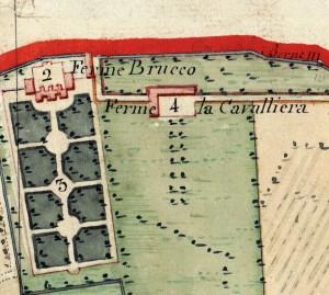 Cascina Cavaliera. Catasto Napoleonico, 1805, ©Archivio di Stato di Torino