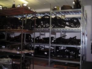 Modelli di artiglierie costruiti fra il Settecento e l'Ottocento, conservati al Museo Storico Nazionale di Artiglieria. Fotografia di Silvia Bertelli