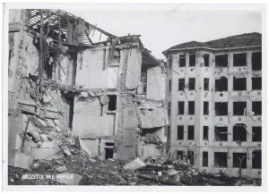 Ospedale San Giovanni Battista (delle Molinette), Corso Donato Bramante. Effetti prodotti dai bombardamenti dell'incursione aerea dell'8-9 dicembre 1942. UPA 2831D_9D01-41. © Archivio Storico della Città di Torino