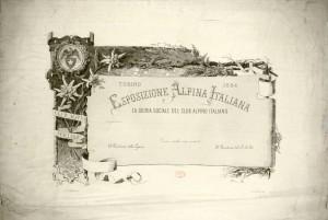 Diploma di premio, 1884. Biblioteca civica centrale, Cartografico  7/2.20 © Biblioteche civiche torinesi