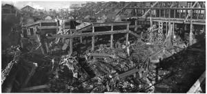 Via Cigna 115. Stabilimento FIAT, Sezione Ind. Metallurgiche (S.I.M.A.). Effetti prodotti dai bombardamenti dell'incursione aerea del 29-30 novembre 1942. UPA 2454D_9F02-25. © Archivio Storico della Città di Torino