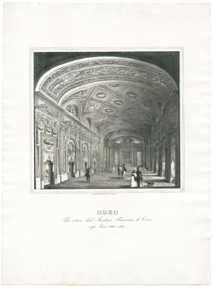 Odeo fatto costruire dall'Accademia Filarmonica di Torino negli anni 1839-1840. Litografia dei F.lli Doyen, 1841. © Archivio Storico della Città di Torino.