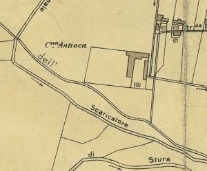 Cascina Antiochia. Pianta di Torino, 1935. © Archivio Storico della Città di Torino