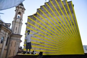 Gianluca Scarano, Senza titolo, 2000, opera murale, via Netro 4. Fotografia dell' Archivio Museo d'Arte Urbana © Museo d'Arte Urbana