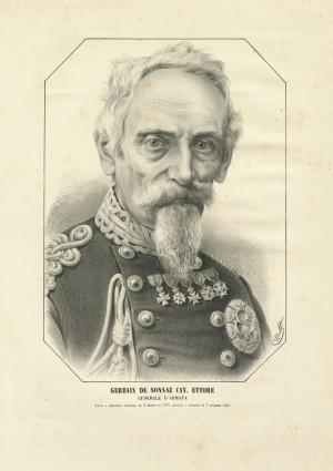 Ettore De Sonnaz, disegno di Watt, in Album del Diavolo, 1867. © Archivio Storico della Città di Torino
