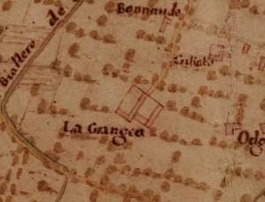 Cascina La Grangia, Grange. Carta della Montagna, 1694-1703. © Archivio di Stato di Torino.