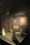 Museo di Antichità. Ricostruzione dell'area sacrificale a ridosso delle mura. Fotografia di Giacomo Lovera, 2013. © Soprintendenza per i Beni Archeologici del Piemontee del Museo Antichità Egizie