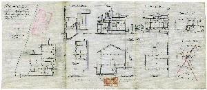 Progetto della casa di via Cavaglià. ASCT, Progetti edilizi, 1920, n. 528. © Archivio Storico della Città