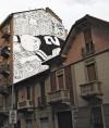 """""""Habitat. Touchdown"""" di Millo, muro dipinto in via Martorelli 48. Fotografia di Millo, 2014"""