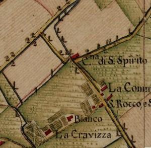 Cascina del Santo Spirito. Carta Topografica della Caccia, 1760-1766 circa, ©Archivio di Stato di Torino