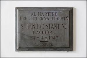 Lapide dedicata a Costantino Sereno (1900 - 1945)