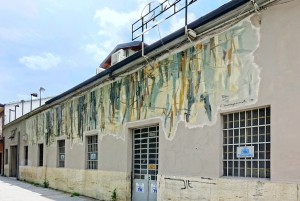 Emilia Viarengo Miniotti Bosco, murale senza titolo, 1995, piazza Moncenisio, MAU Museo Arte Urbana. Fotografia di Roberto Cortese, 2017 © Archivio Storico della Città di Torino