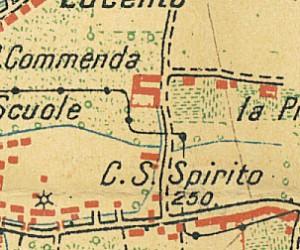 Cascina del Santo Spirito. Pianta di Torino e dintorni, 1911. © Archivio Storico della Città di Torino