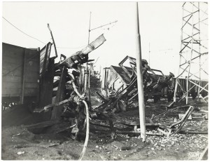 Via Nizza (FIAT Lingotto, Stazione di Smistamento). Effetti prodotti dai bombardamenti dell'incursione aerea del 28 Novembre 1942. UPA 2301_9C02-13. © Archivio Storico della Città di Torino